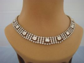 Art Deco Revival Collar - Diamante Necklace from the 1950s - 1960s (SOLD)